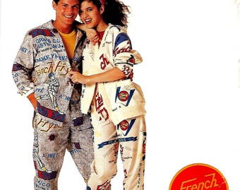 McCall's P910 3375 French Fryzz, Misses, Men's Or Teens Lined Jacket, Shirt And Pants Pattern, Large 40-42, UNCUT