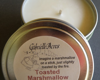Toasted Marshmallow Soy Candle - 6 Oz Travel Tin