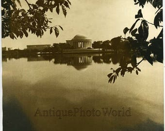 Jefferson Memorial Washington vintage art photo