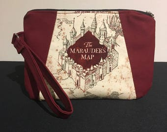 The Marauders Map Harry Potter Inspired Clutch