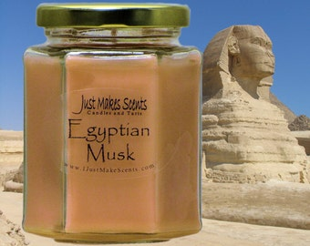 Egyptian Musk Blended Soy Candle (Free Shipping on Orders of 6 or More) Scented Soy Candles - Egyptian Musk