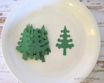 pine trees,25 pine tree die cuts,christmas die cuts,lumberjack confetti,winter wedding,winter table decor,winter confetti, winter decoration