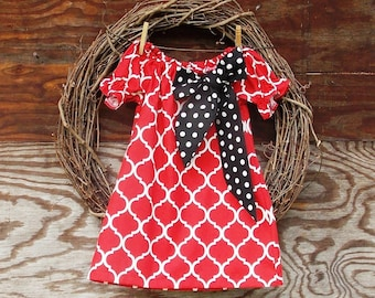 Girls Christmas Dress, Girls Dress, Girls Holiday Dress, Red Christmas Dress, Girls Red Dress