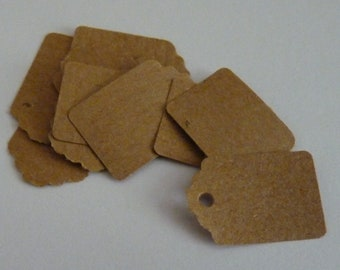 Medium plain kraft brown paper price hang gift tags