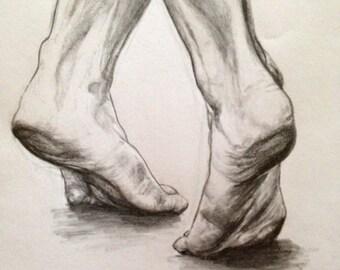 Dancing Feet drawing print