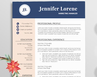 Resume/Professional resume template word / Modern Resume template +Cover letter For word / job resume / teacher resume / Word resume