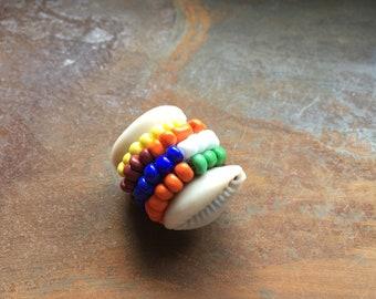 One Siete Potencias 7 African Powers Macuto Santeria Amulet Multicolor