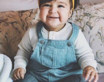 Solid Mustard - baby top knot headband