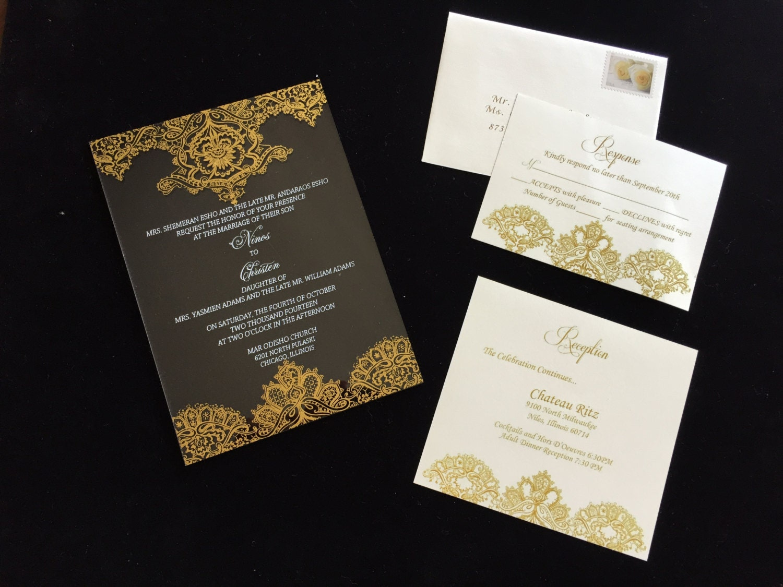 Acrylic Wedding Invitation