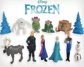 Mister A Gift Disneys Frozen set of 12 Plastic Cake toppers