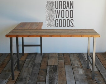 the for office pinterest rustic l pin desk shaped