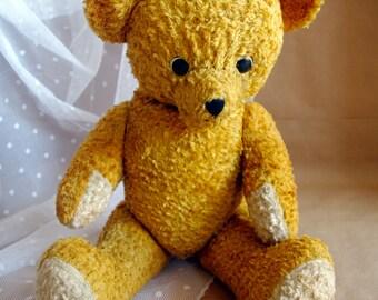 Antique Teddy Bear 1930s Dutch Arthur Van Gelden / Ginger / Orange /VERY RARE / Old Vintage