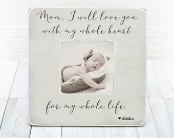 Mothers Day Mom gift Personalized Picture Frame for Mom Mommy Mother Grandma First Mothers Day Gift from son daughter Mothers Day Frame