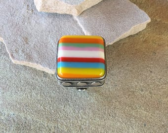 Candy Stripes Contemporary Resin Ring