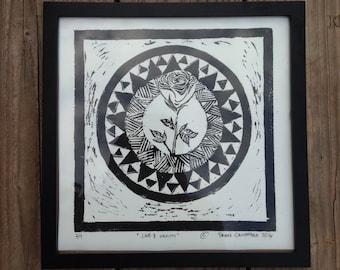 "Rose design, ""Love & Growth"""