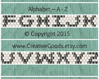 Alphabet Pattern in Odd Count Peyote Stitch - Peyote Pattern