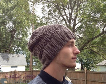 Instant Download- Crochet Pattern-Ferguson Slouchy and Beanie Hat