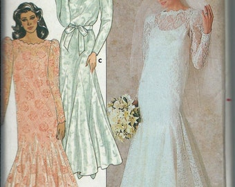Butterick 4414 Bridal Gown Bridesmaid Mother-Of-Bride Dress Pattern, Sizes 8, 10 & 12, UNCUT