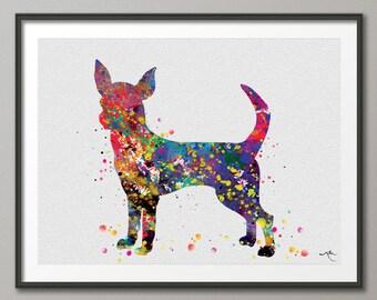 Chihuahua Dog Watercolor Dog Print Chihuahua Poster Gift Pet Dog Love Puppy Friend Animal Dog Poster Pet Decor Animal Art Dog Art-264