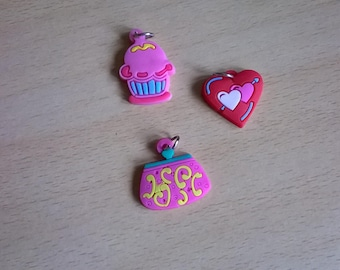 X 3 rubber charms LOT