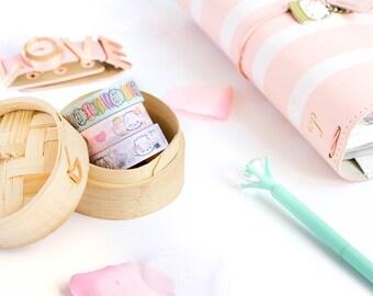 "SET OF 3 // Dessert Washi - The ""Steamie Loves Dessert"" Collection [Food Washi, Pastel Washi, Ice Cream Washi, Boba, Macarons, Kawaii Washi]"