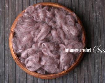 2,5 oz (70gr) Cute OLD ROSE color Large Basket Stuffer filler. Soft 100% acrylic fiber. Newborn photo prop. Ready to ship