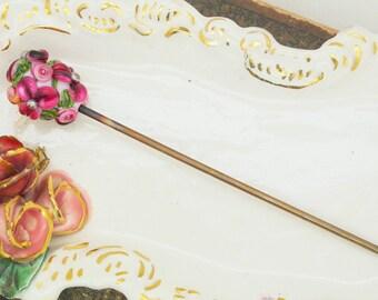 Testeur de gâteau Floral rose à la main Art du verre au chalumeau
