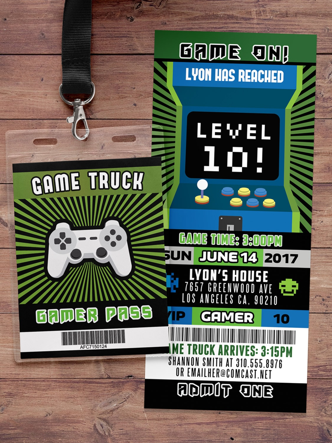 Video Game Invitation Game Truck Party Invitations Video Game