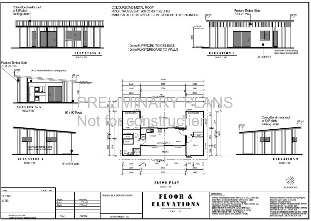 Shipping container blueprint plans for sale 3 containers combined shipping container blueprint plans for sale 3 containers combined floor plans 840sq foot 78m2 2 bed malvernweather Gallery