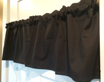 Solid Black Solid Room Curtain Valance