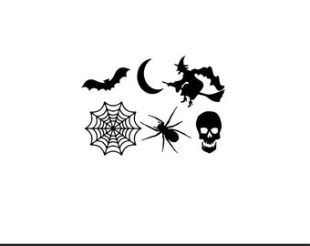 halloween set svg dxf jpeg png file instant download stencil monogram frame silhouette cameo cricut clip art commercial use