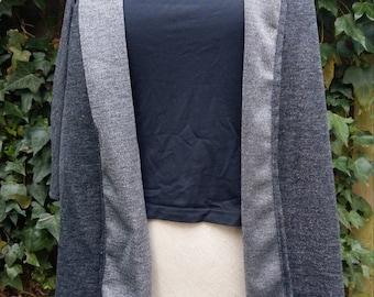 Shiny silver-grey Cardigan/shawl