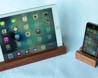 iPad Stand. Phone Stand. iPad Holder. Phone Holder. Tablet Stand. Tablet Holder. Wooden Phone Stand. Handmade in Sapele or Oak Hardwood