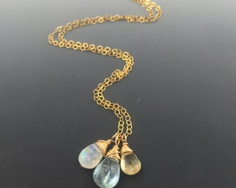 14k Gold Filled Semi-Precious Gem Birthstone Necklace