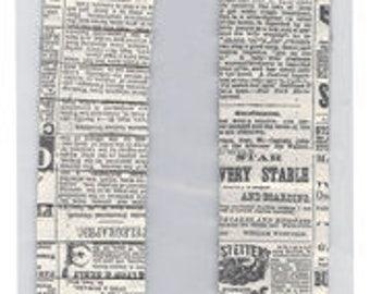 Bazzill: Pleated Borders, Newsprint