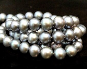Gray Freshwater PEARLS - Gray Lusturous Smooth Potato Pearls 6-7mm, Beautiful  16 pcs