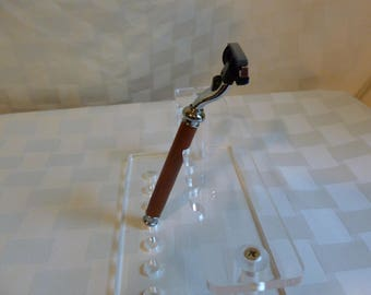 Wood Turned Padku Razor handle/fathers day/razor handle/Wood Razor Handle/Mach 3 Razor Handle/wood turned