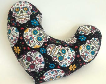 Mastectomy Pillow -- Sugar Skull Breast Cancer Comfort Pillow, Mastectomy Gift