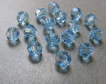 Aquamarine 5000 - Swarovski Crystal Round Bead (4mm, 5mm, 6mm, 8mm, 10mm)