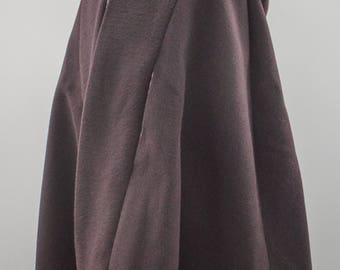 Italian Wool Blend Plum Girls Cape with Retro Circles Lining. Handmade Cloaks, Ponchos and Clothing in the Wye Valley.