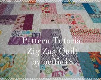 Zig Zag Quilt Pattern Tutorial, w photos, Fast Fun Easy pdf