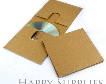 Simple Double Handmade Duplex Kraft Paper CD Case (Bulk Order Available)