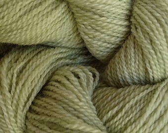 Merino Wool Yarn Lace Weight in Shabby Green Hand Painted