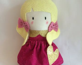 Little Pigtailed Doll * Cloth Doll * Rag Doll * Fabric Doll * Handmade Doll * Cute Doll * Girls Gift * Baby Gift * Pigtails