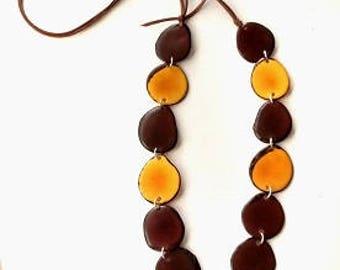 Tagua NUT NECKLACE, Tagua necklaces. Tagua Jewelry. Tagua Jewellery. Fashionable necklace.