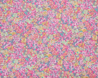 Liberty fabric Tana Lawn Chive- 9''x26'' Fat Eighth Pink-  Classic Collection