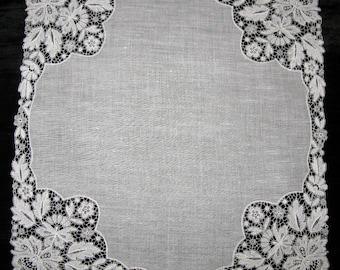 Estate Item Womens Lacy Hanky Antique Lace Handkerchief, Wedding Handkerchief, Ladies Hankies,