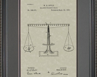 Scales of Justice Patent Art Wall Hanging Attorney Judge Lawyer Gift G6975