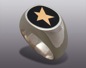 STAR MAN'S RING.Silver Art