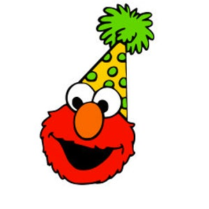 Elmo Birthday SVG 6 LAYERS